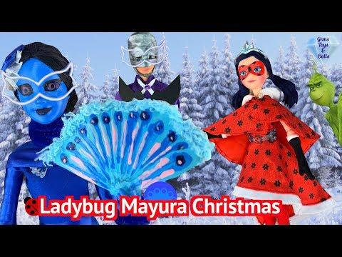 Ladybug Mayura Christmas Lila Grinch CHAMELEON - SEASON 3, EPISODE 1 Doll Miraculous