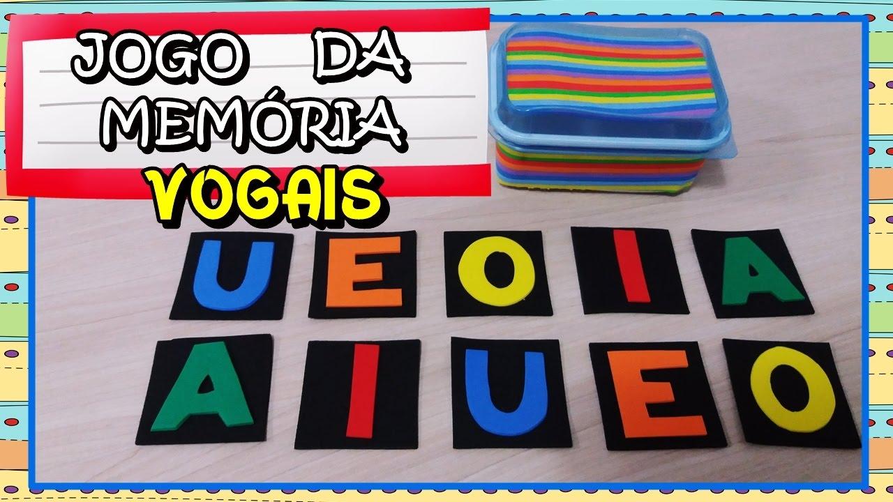 Diy Jogo Da Memoria Das Vogais Veda23 Youtube