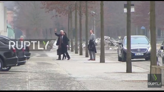 Germany  Actor Richard Gere arrives at chancellery to meet Merkel