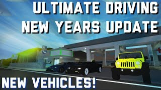 ROBLOX - NEW VEHICLES, CRUISE CONTROL, AND MORE! (ULTIMATE DRIVING NEW YEARS UPDATE)