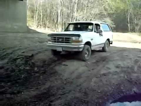 The truck got stuck