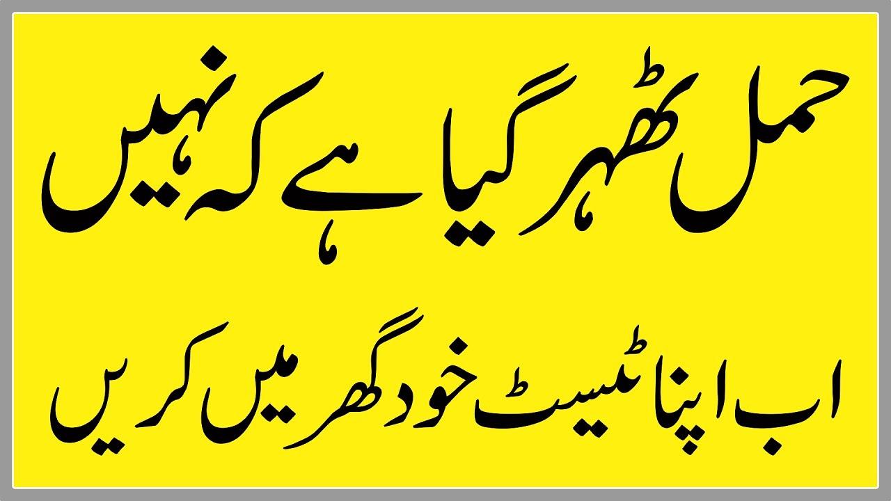 Pregnancy Check Karne Ka Tarika In urdu | حمل چیک کرنے کا آسان طریقہ