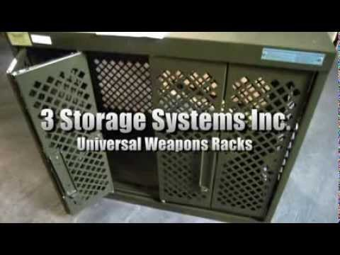 3 Space Saver Storage Systems Inc Universal Weapons Rack on GovLiquidation.com