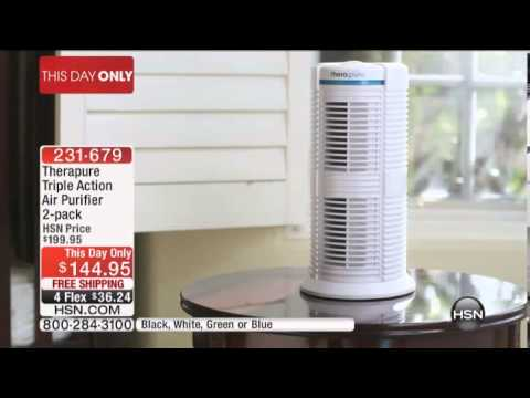 therapure triple action air purifier 2pack -