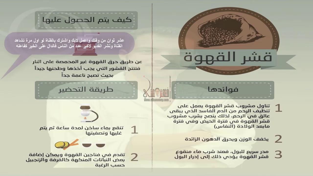 ماهي فوائد قشر القهوة وكيفية تحضيرة وما فوائدة لزيادة الوزن وصفة فى صورة Youtube