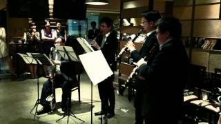 Clarinet quartet playing full complete version of theme from super ...