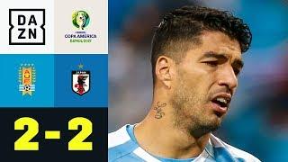 Tor von Luis Suarez reicht nur zum Remis: Uruguay - Japan 2:2 | Copa America | DAZN Highlights