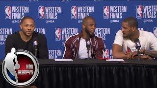 [FULL] Chris Paul, Eric Gordon and Trevor Ariza after Rockets' Game 2 win vs. Warriors   NBA on ESPN