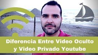 Diferencia Entre Video Oculto y Video Privado Youtube | CONSEJOS
