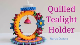 Quilling Tealight Holder/ How to make Quilled Lamp Stand