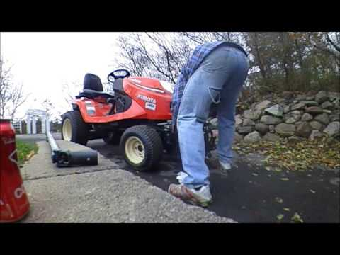 kubota gr 2120 mower off and snowblower on youtube. Black Bedroom Furniture Sets. Home Design Ideas