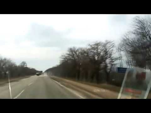 BMP Ukrainian troops drove by car on the highway Kharkiv -Simferopol 19.03.2015 Ukraine News,War To