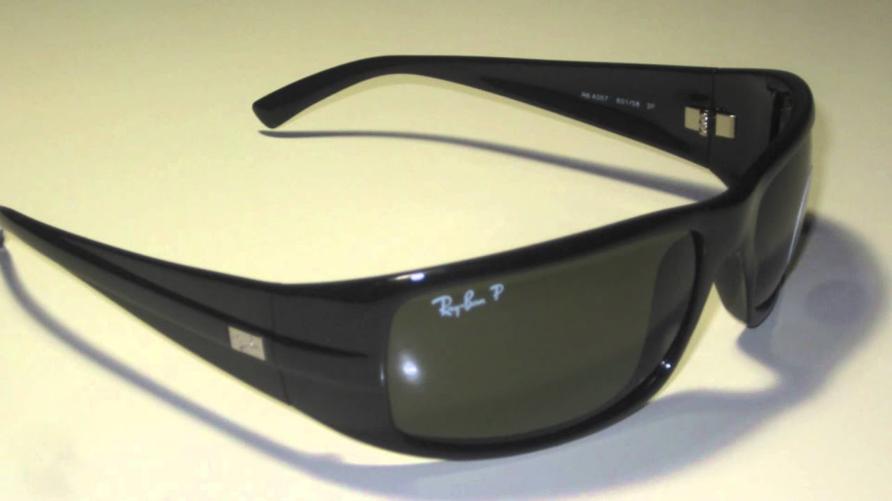 ray ban rb4057 polarized 601 58 sunglasses youtube rh youtube com