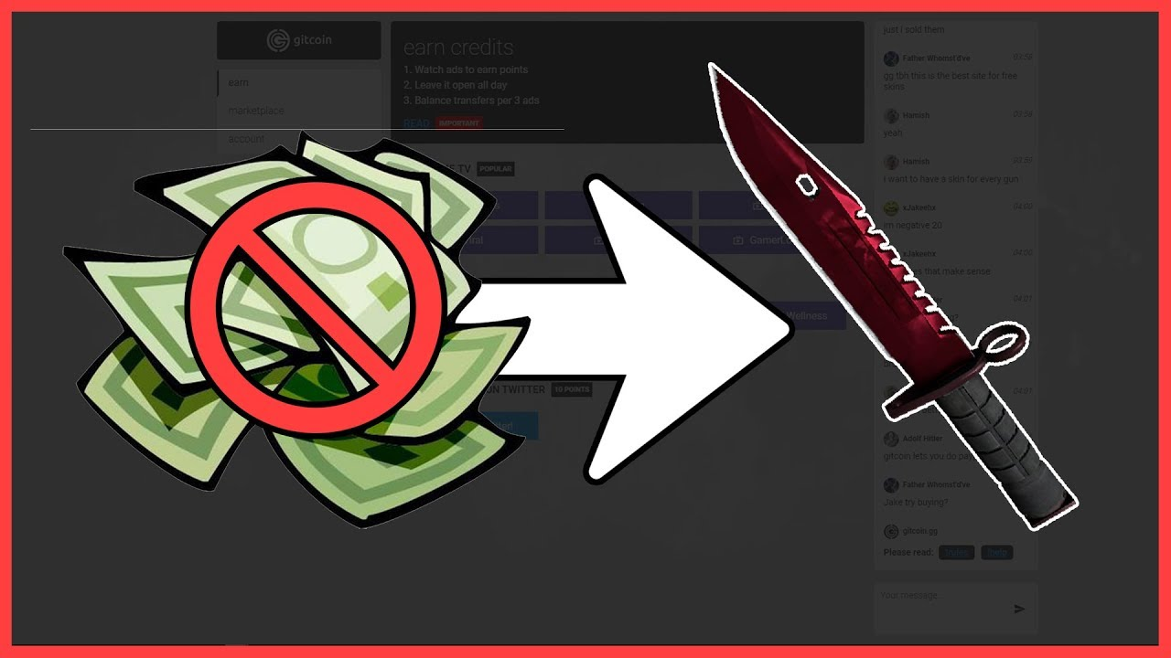 NEW SITE - HOW TO GET FREE CSGO SKINS IN 2017 EASY (WITH PROOF + REF CODE)  Gitcoin gg