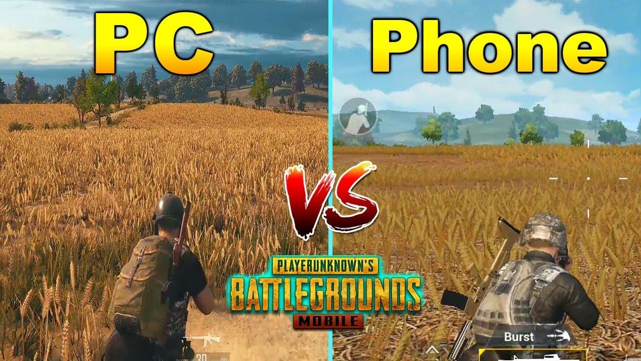 Pubg Mobile Full Hd Graphics: PUBG PC Vs Mobile Graphics & Gameplay Comparison