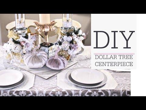 DIY DOLLAR TREE CENTERPIECE ❄ ELEGANT TABLESCAPE