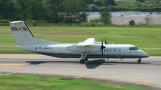 [航空検査機] JCAB Bombardier DHC-8-300 JA007G TAKE-OFF TOYAMA Airport 富山空港 2012.8.24 thumbnail