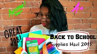 Back to School Supplies Haul 2015: Back to School Series #1