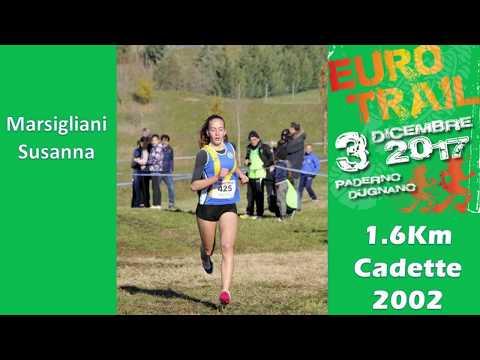 Paderno Dugnano 1600m cadette 2002 4°EUROTRIAL 3 Dicembre 2017