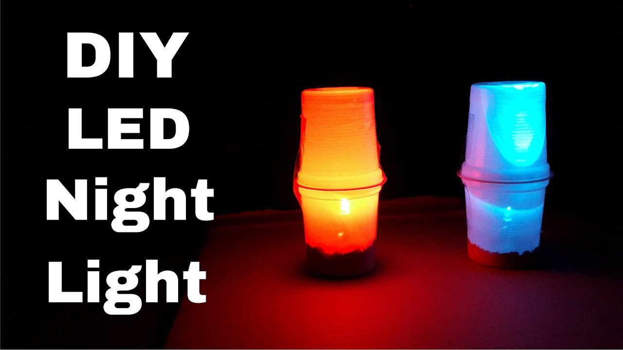 Led Night Lite How To Make Simple Led Table Night Lamp Diy Led Night