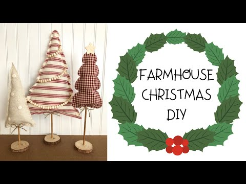 Farmhouse Christmas DIY  |  Dollar Tree & Hobby Lobby DIY