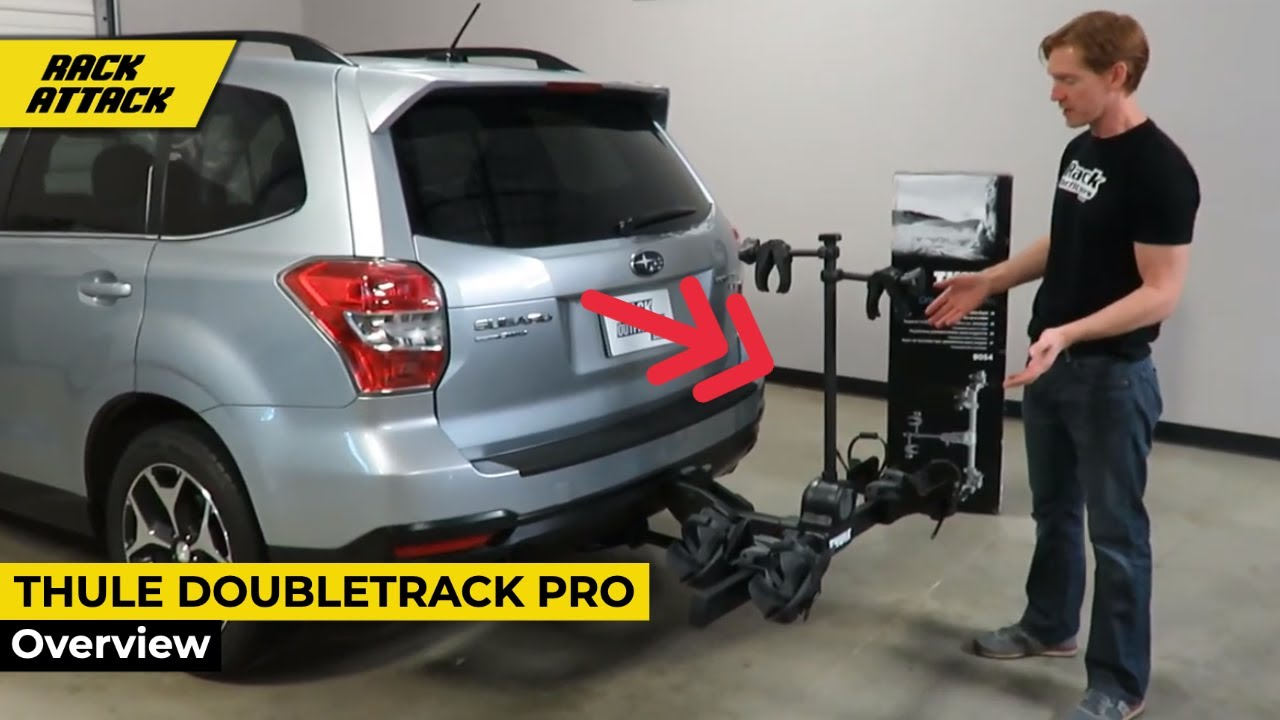 Thule 9054 Doubletrack Pro Bike Hitch Platform Rack Review And Demonstration