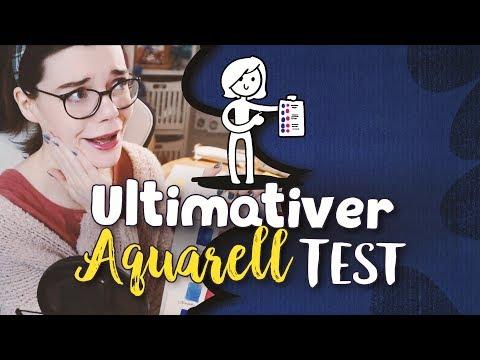 Der ultimative Aquarell Test 🎨 5...