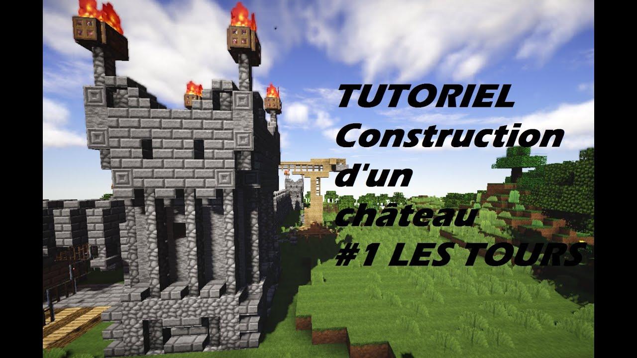 Tuto construction ch teau minecraft 1 les tours youtube - Chateau de minecraft ...