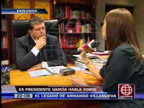 Alan García La Muerte De Armando Villanueva Es Un Llamado De