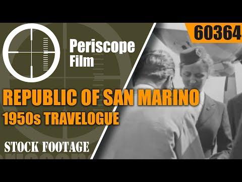 REPUBLIC OF SAN MARINO  1950s TRAVELOGUE FILM 60364