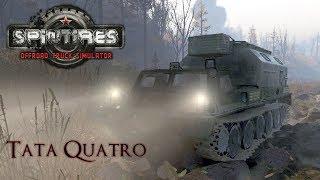 ''Spintires'' | TATA QUATRO | bridge construction support - ГТ-СМ (ГАЗ-71) | #5
