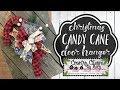 Buffalo Check Candy Cane Door Hanger   Christmas DIY   Dollar Tree Wreath Form
