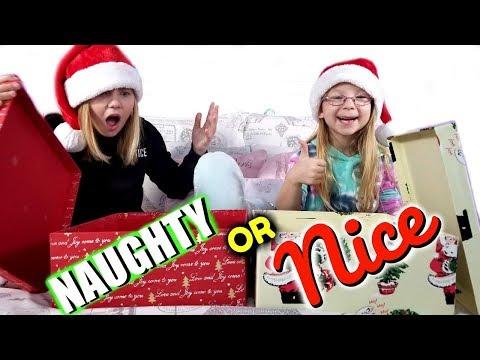 NAUGHTY or NICE Christmas Present Challenge!!!