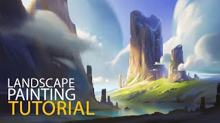 Landscape Digital Painting Tutorial