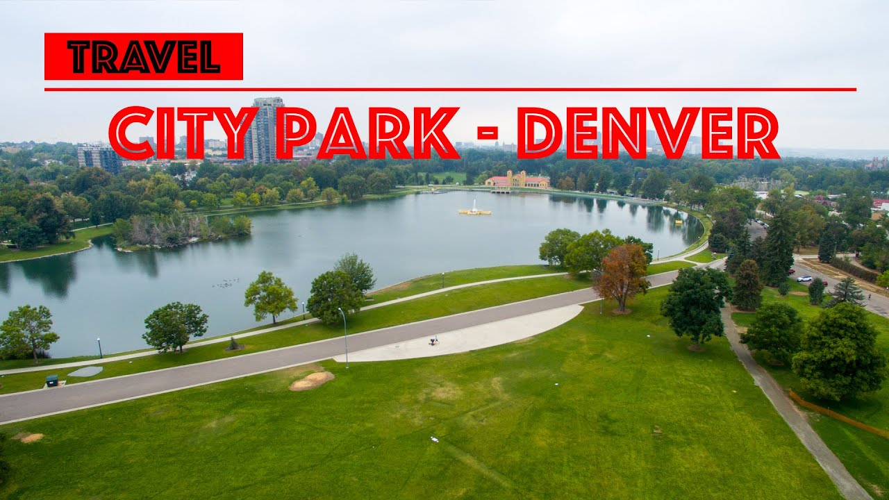 I Fly With My Drone Over The City Park In Denver Colorado Usa