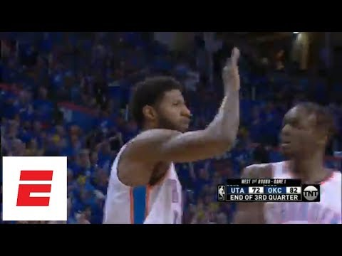 Paul George ties a franchise playoff record with 8 3-pointers in Game 1 win over Jazz | ESPN
