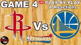 Rockets vs Warriors Game 4 | Live Play-By-Play & Reactions