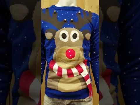 Kersttrui Met Licht.Jeansgek Nl Kerst Trui Met Licht En Geluid Youtube