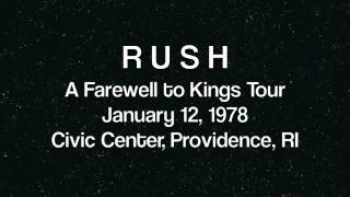 RUSH - Providence '78 - A Farewell To Kings Tour