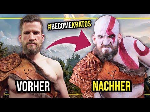 Ich verwandle Fabian Siegismund in KRATOS! 💪🏻+ GEWINNSPIEL #BecomeKratos | Alycia Marie