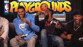 Playing Against NBA Superstar Karl-Anthony Towns In Real Life! NBA Playgrounds 2 Basketball