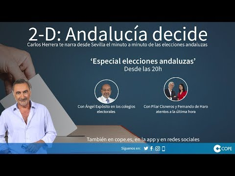 Programa especial de COPE 'Elecciones Andalucía 2018' en directo #COPEandaluzas