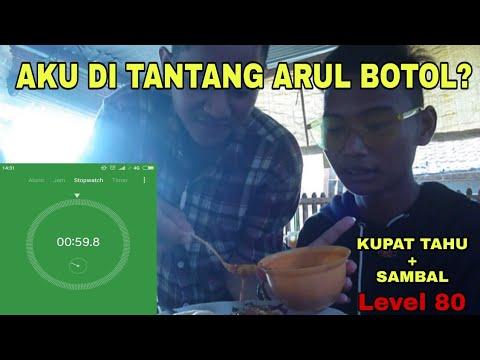 CHALLENGE!! MAKAN KUPAT TAHU+SAMBAL LEVEL 80 😱 | #AYVLOG #4