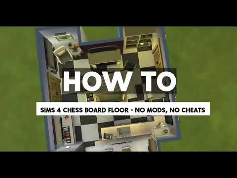 How to build a free chessboard floor in The Sims 4 base game