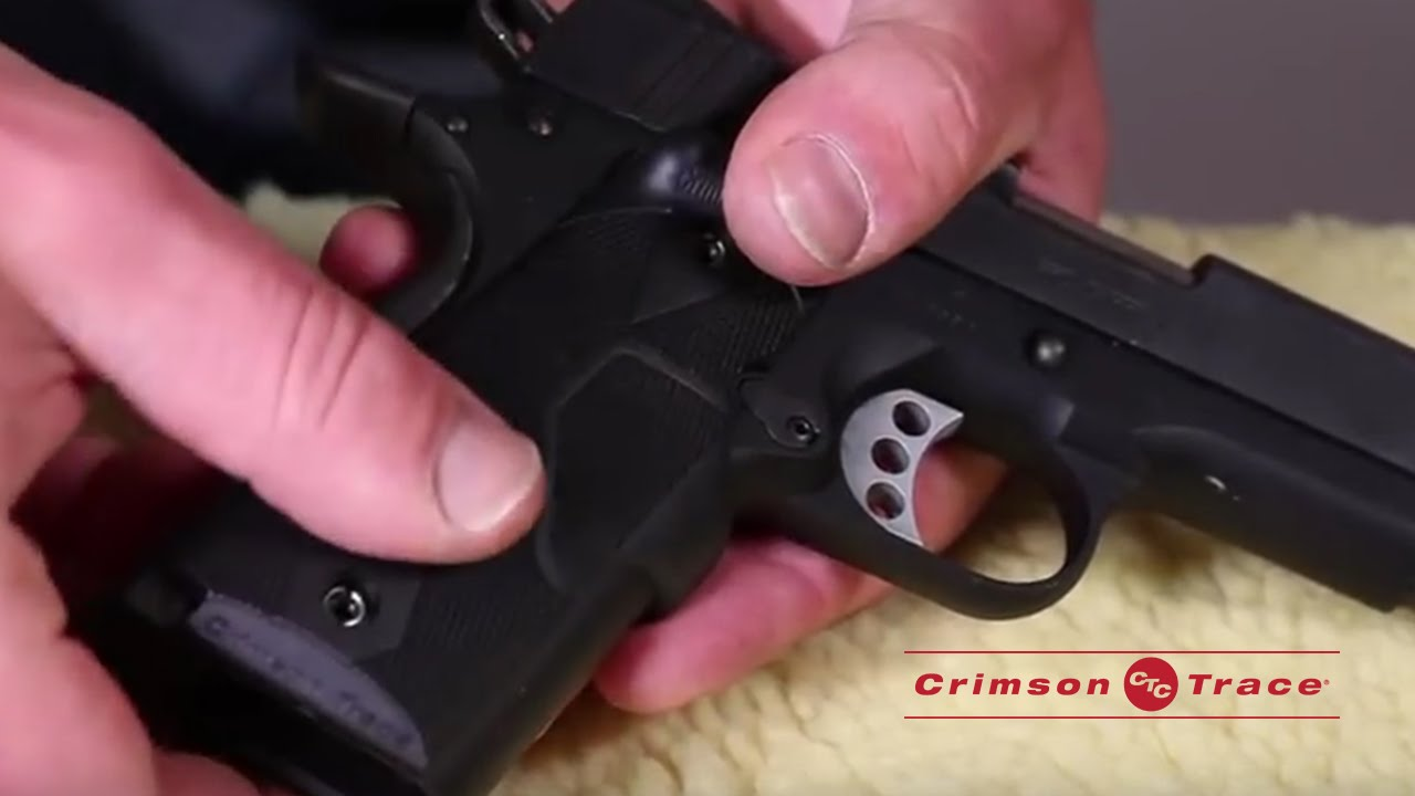 Installing your Laser Sights | Crimson Trace Lasergrips
