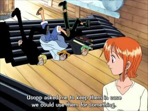 Luffy, Zoro and Sanji vs. three marine ships