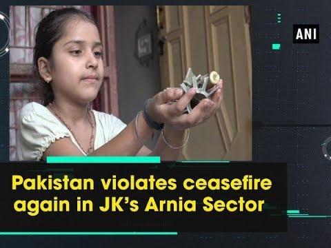 Pakistan violates ceasefire again in JK's Arnia Sector - Jammu and Kashmir News