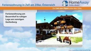 Tirol: Ferienwohnung am Bauernhof in ruhiger Lage am sonnigen Gerlosberg - FeWo-direkt.de Video