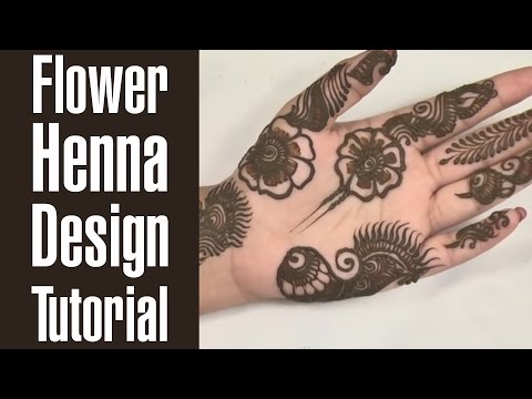Flower Henna Design Tutorial That You Can Do Under 20 Minutes