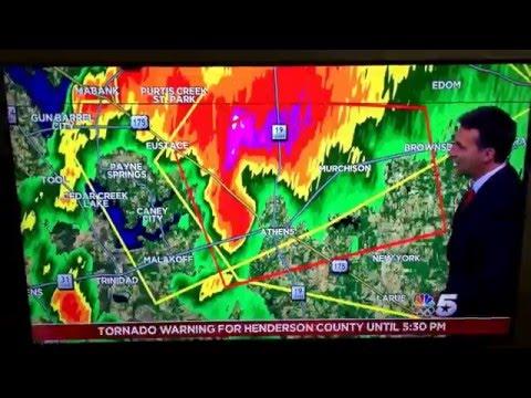 Tornado in Athens tx 4-29-16